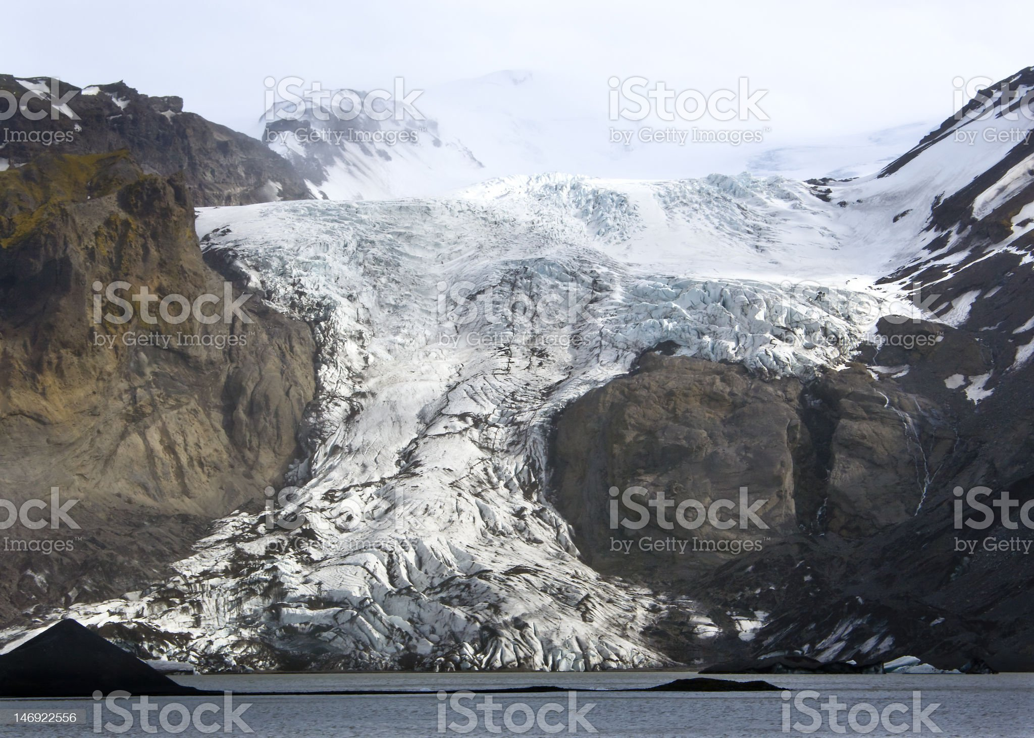 The Eyjafjallajokull glacier Iceland (volcano activity) royalty-free stock vector art