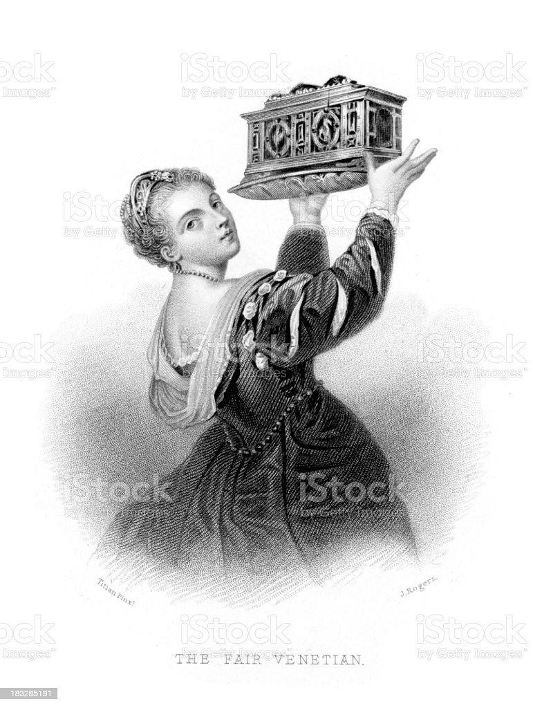 The Fair Venetian royalty-free stock vector art