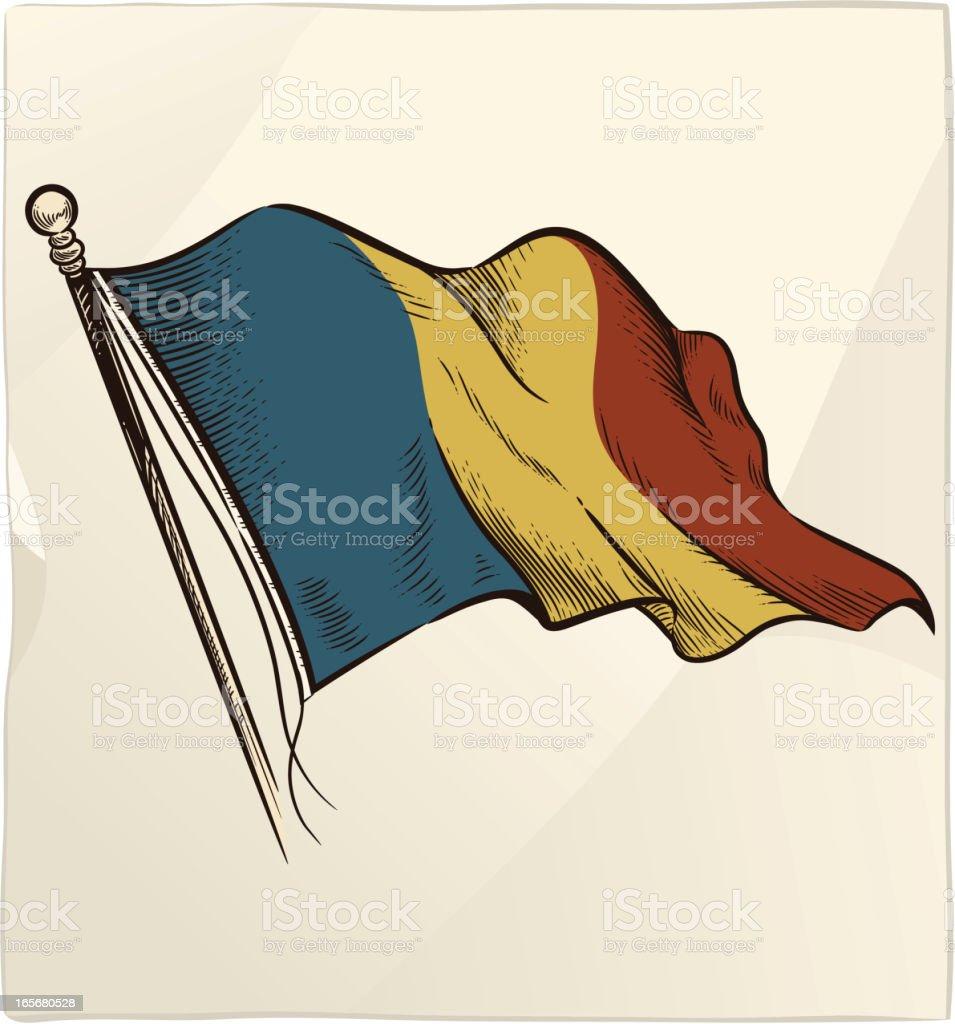 The Flag of Romania royalty-free stock vector art