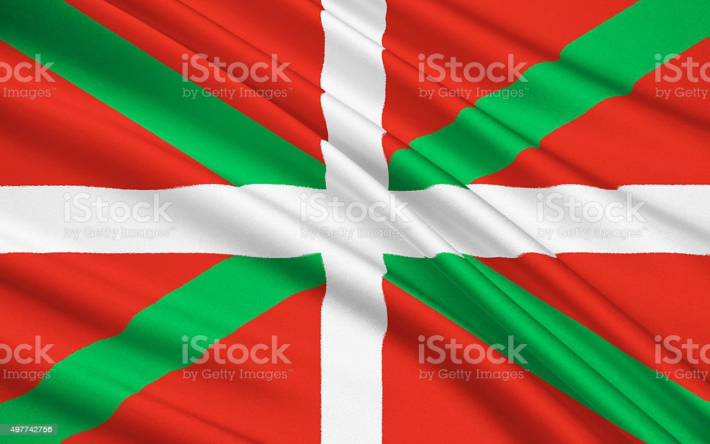 The flag of the Basque Country, Spain vector art illustration
