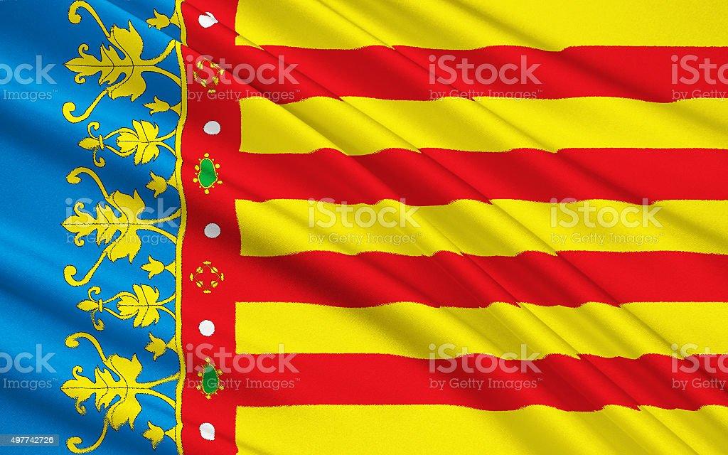 The flag of the Valencian Community, Spain vector art illustration