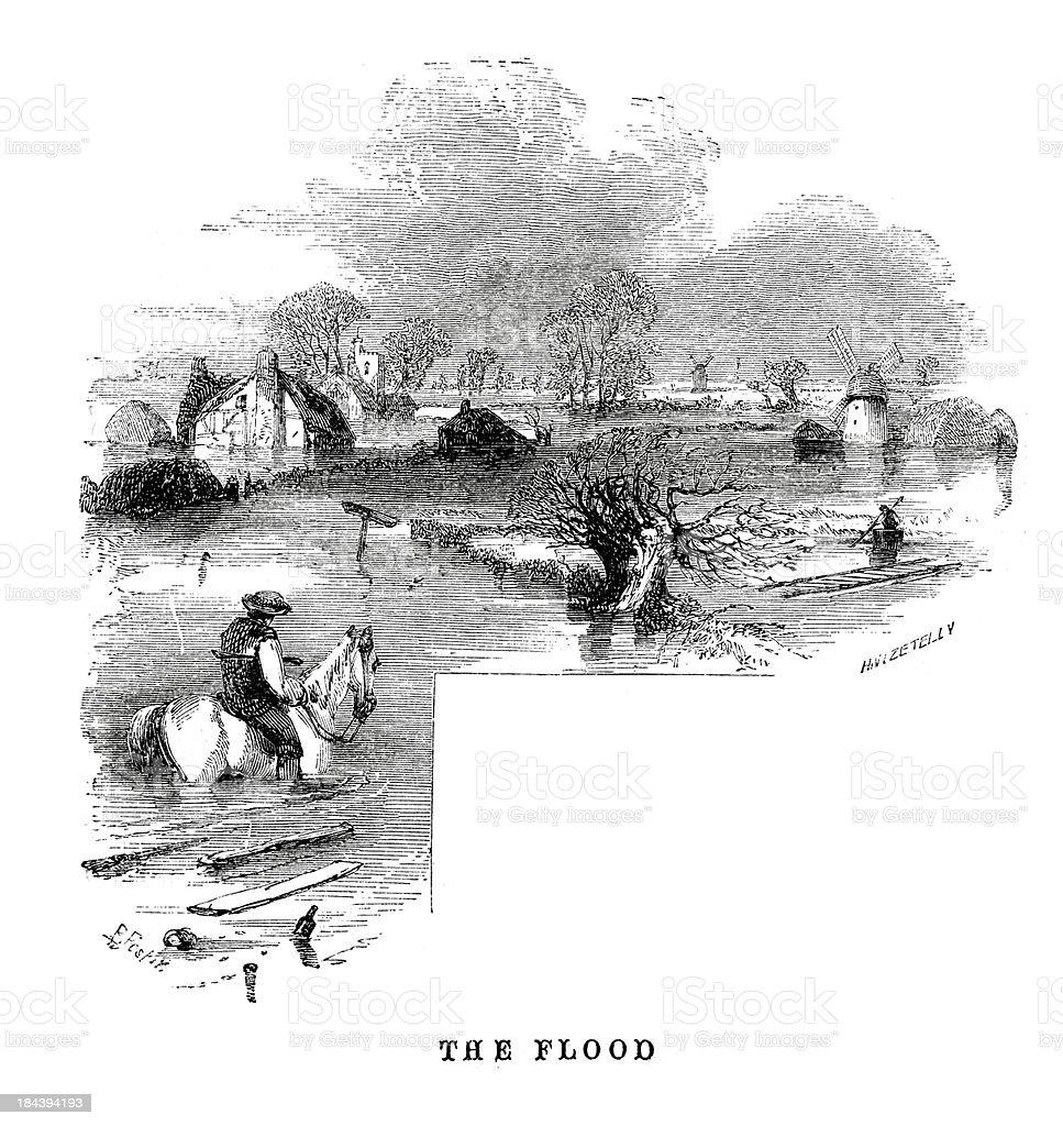 The Flood royalty-free stock vector art