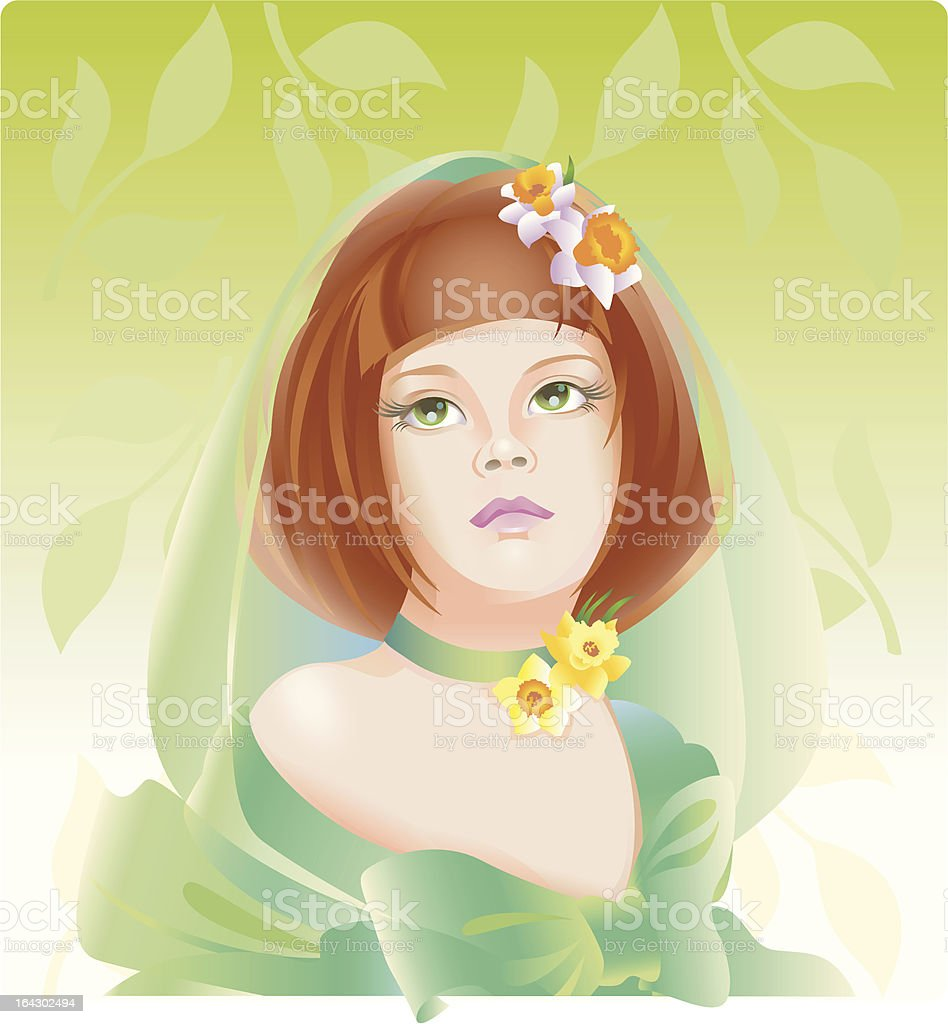 The four seasons: spring. royalty-free stock vector art