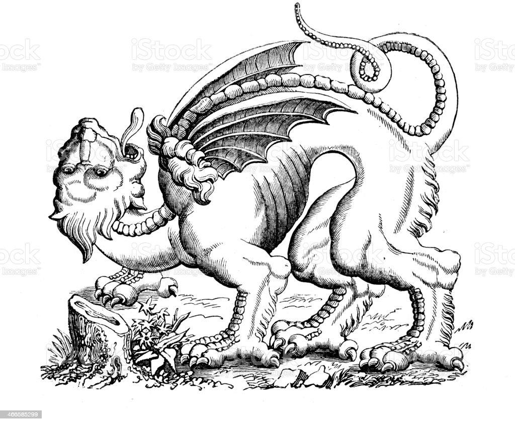The Gargouille vector art illustration