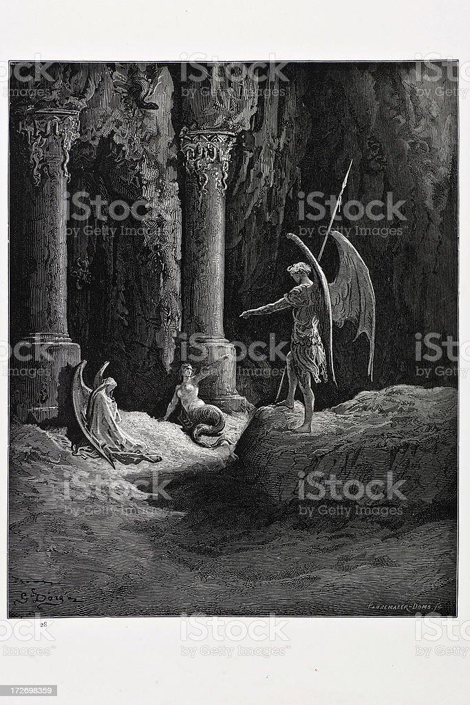 The Gates of Hell vector art illustration