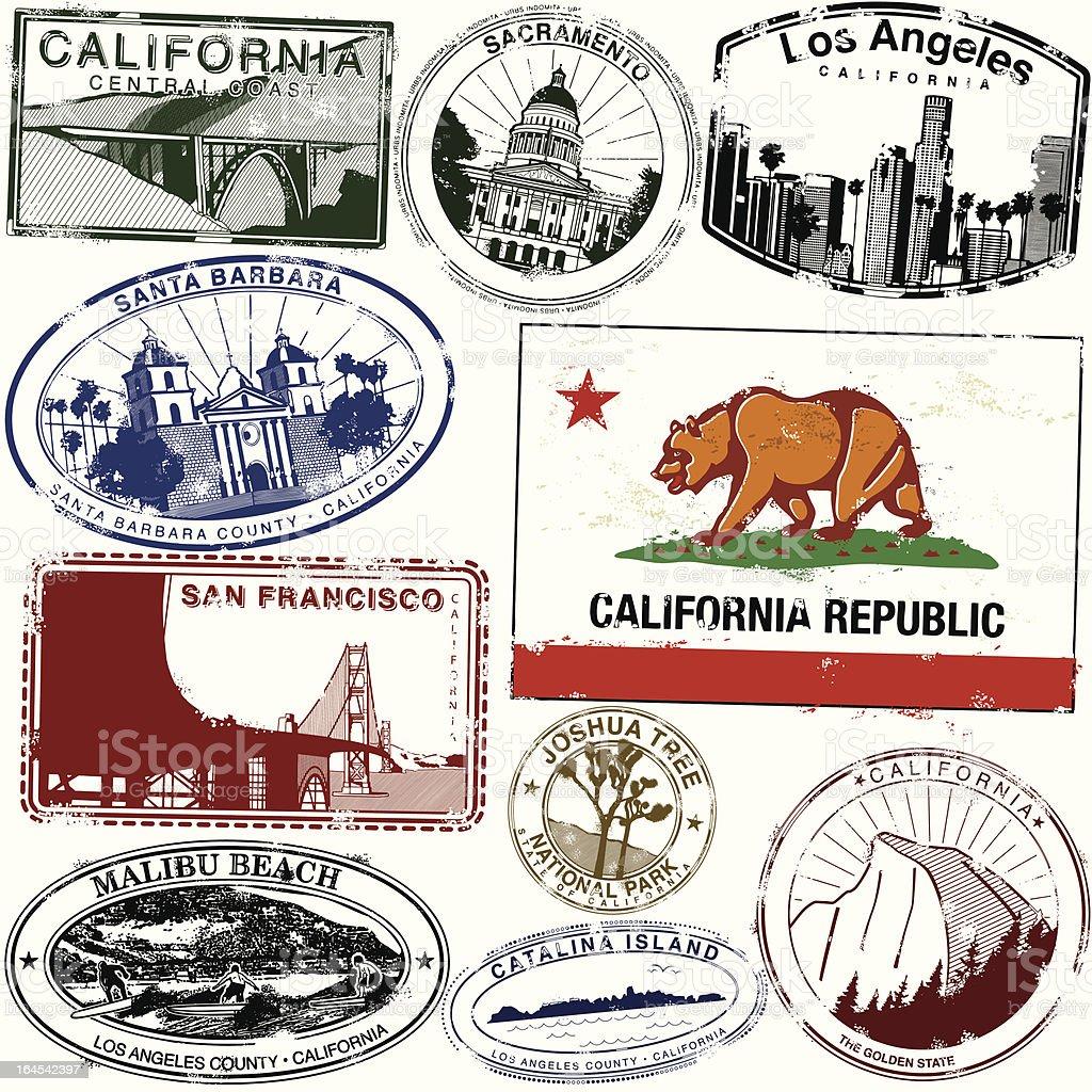 The Goldenest of states vector art illustration