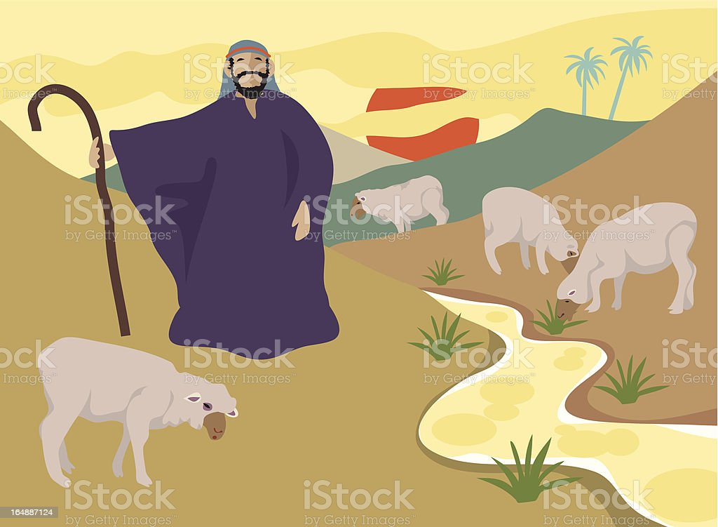 The Good Shepherd royalty-free stock vector art