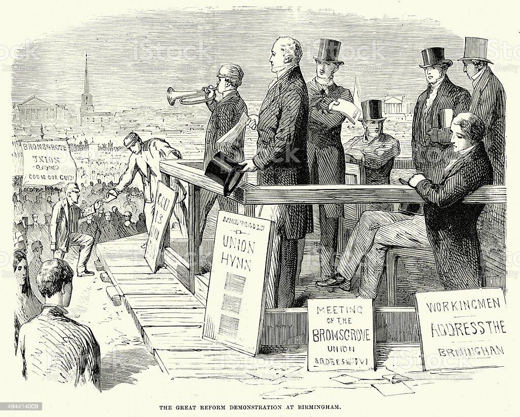 The Great Reform Demonstration vector art illustration
