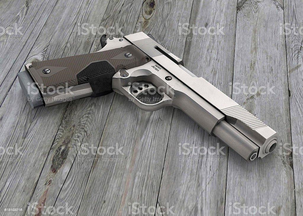 The Guns - 3D vector art illustration