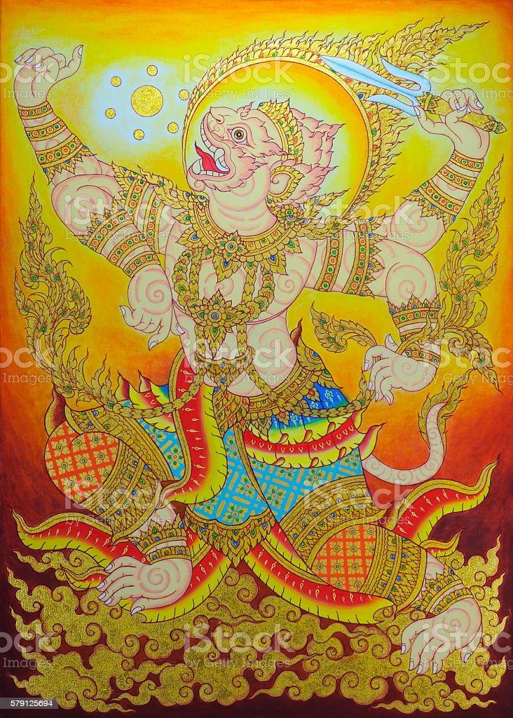The Hanuman. vector art illustration