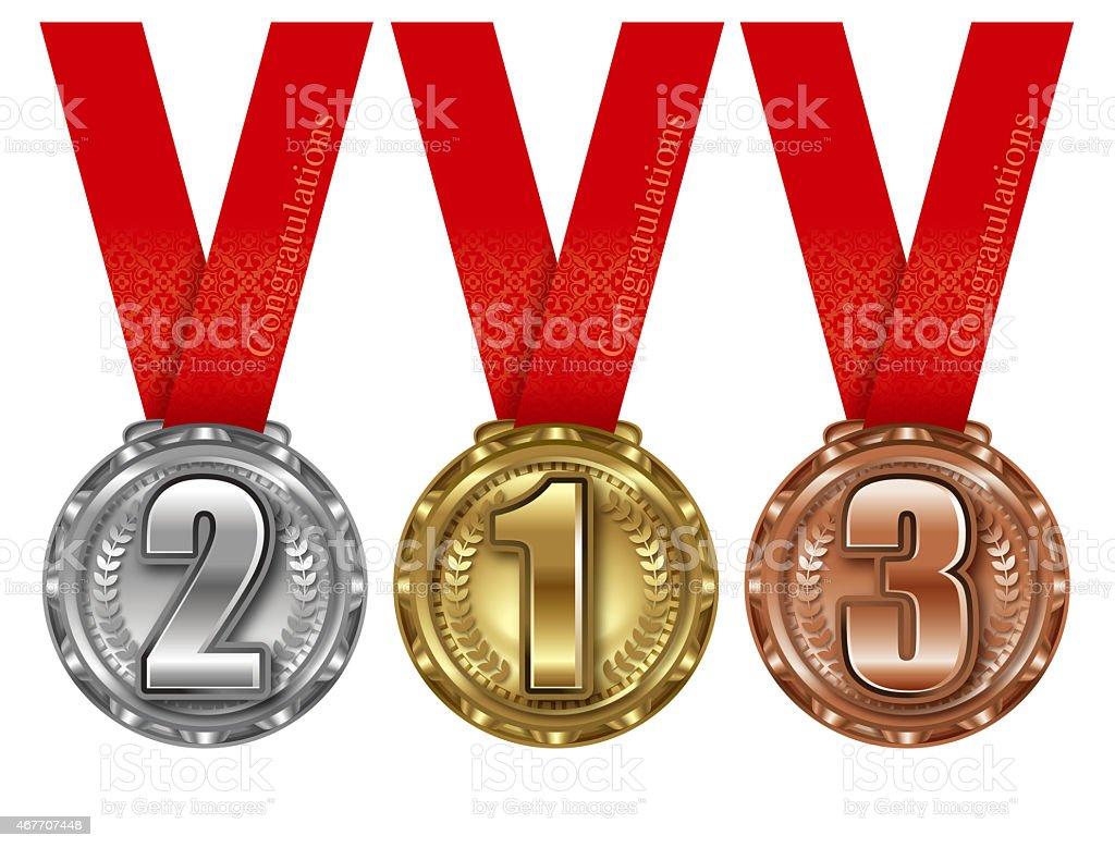 The illustration of the prize medal. vector art illustration