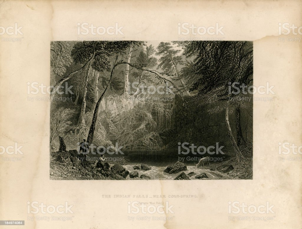 The Indian Falls (Geo Virtue 1839) royalty-free stock vector art