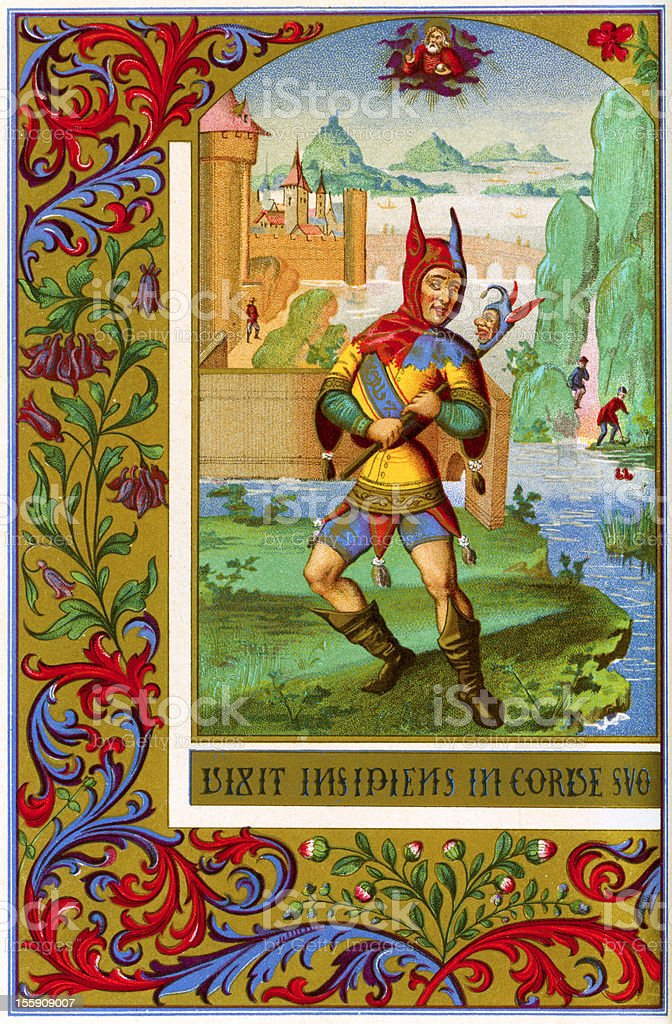 The Jester vector art illustration