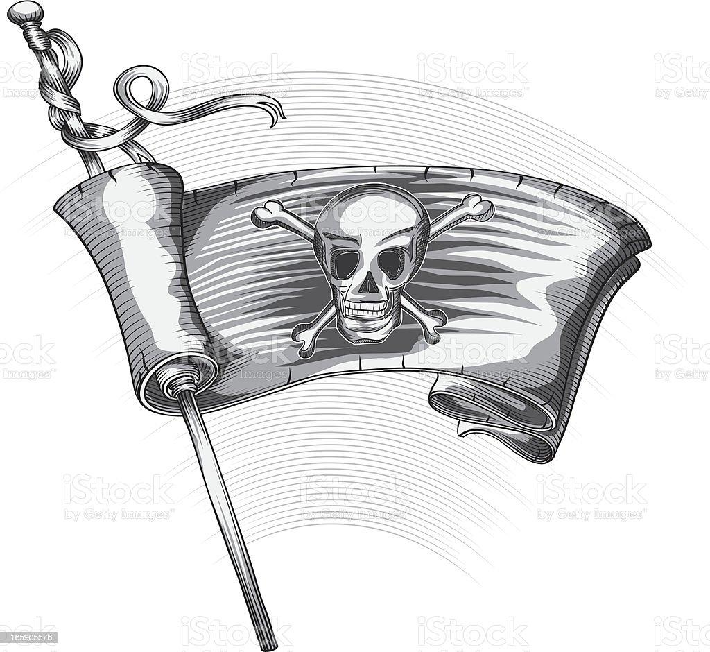 The Jolly Roger vector art illustration
