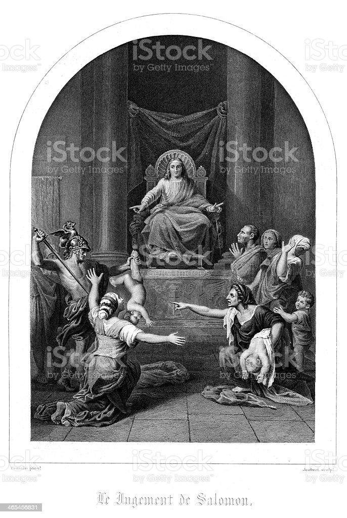 The Judgement of Solomon vector art illustration