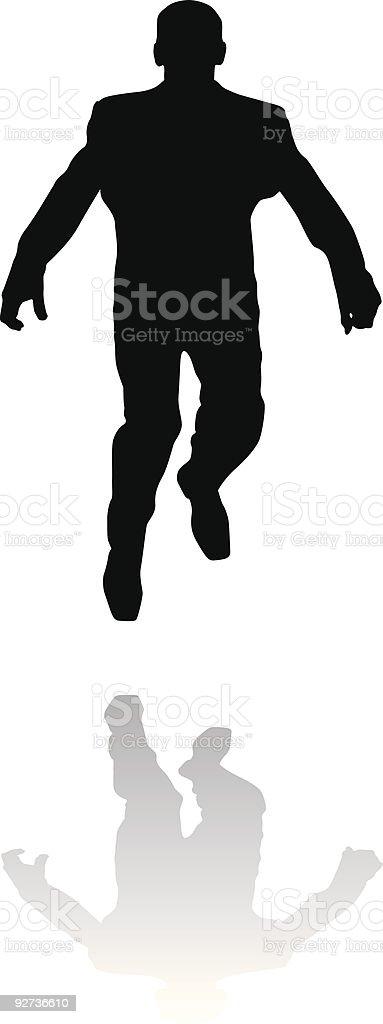 The jumping man royalty-free stock vector art
