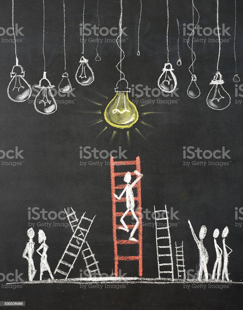 The Ladder of success Concept vector art illustration