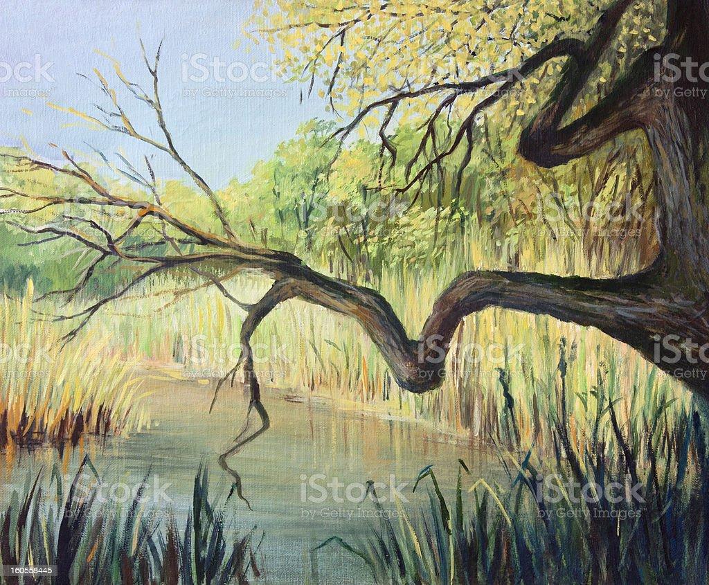 The Lake of Silence royalty-free stock vector art