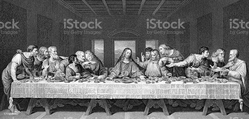 The Last Supper royalty-free stock vector art