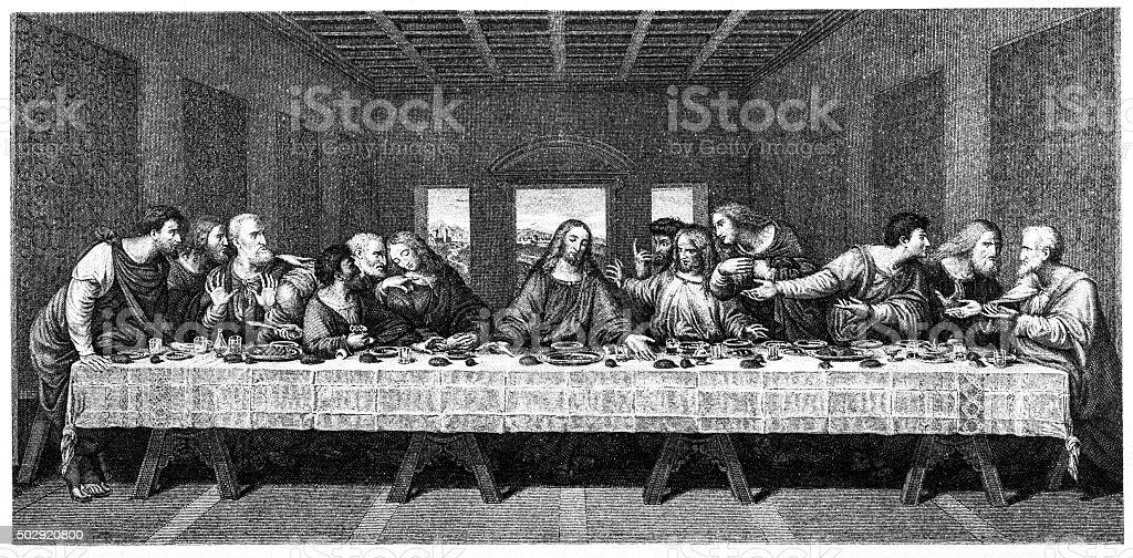 The Last Supper vector art illustration