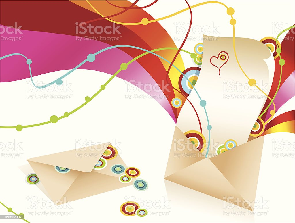 The letter. royalty-free stock vector art