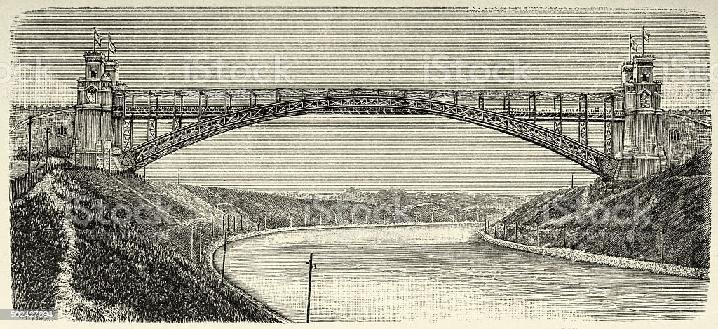 The Levensau High Bridge vector art illustration