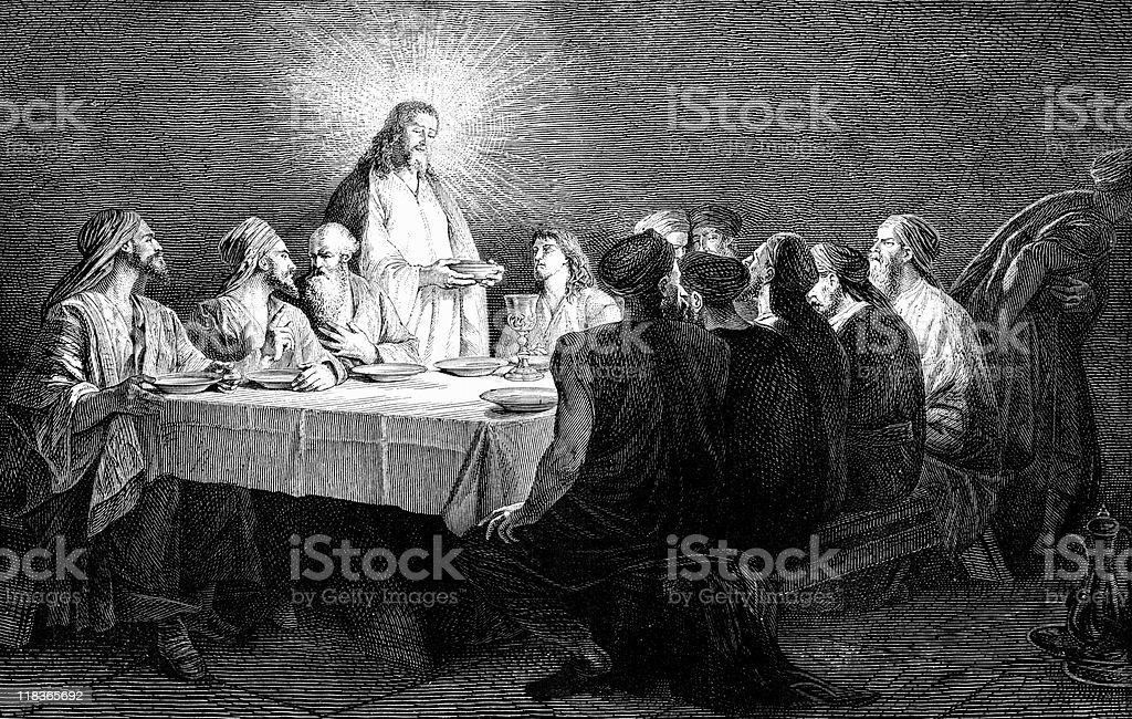 The Lord's Supper royalty-free stock vector art