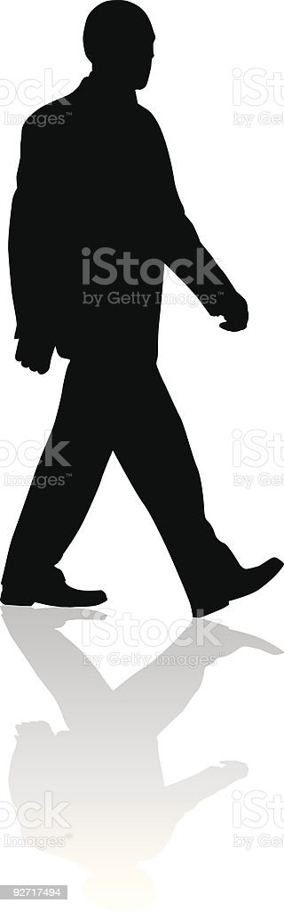 The man goes royalty-free stock vector art