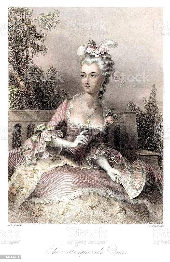 The Masquerade Dress royalty-free stock vector art