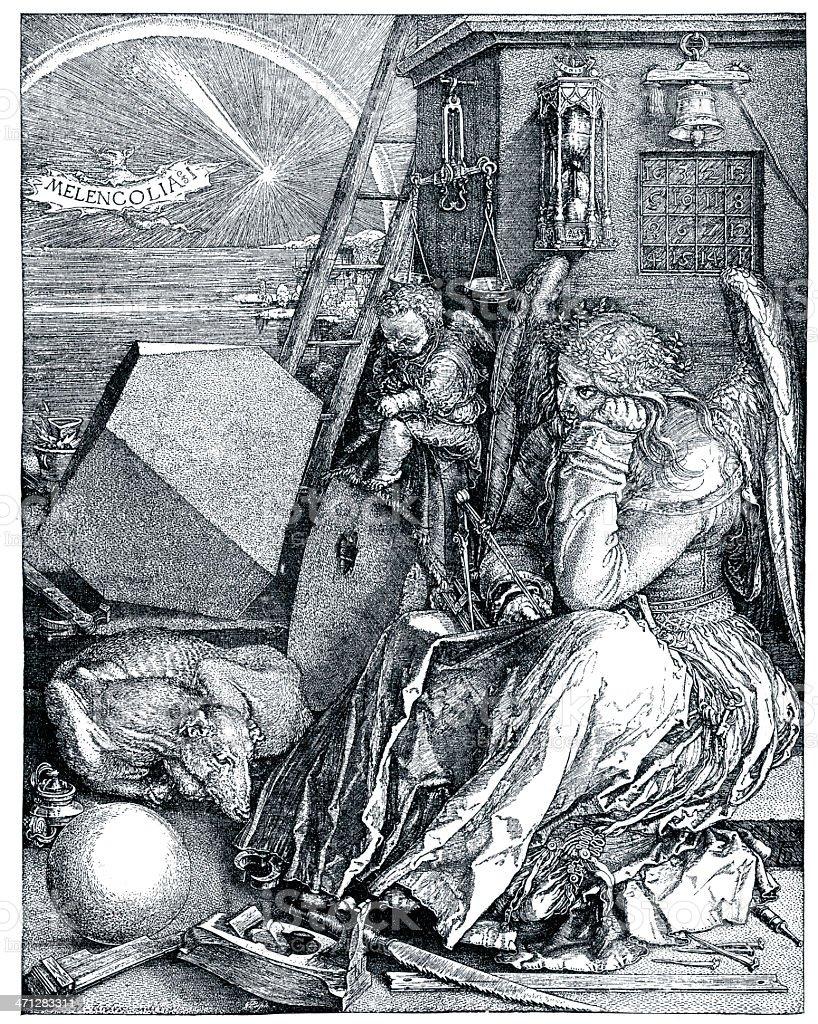 The Melancholia vector art illustration