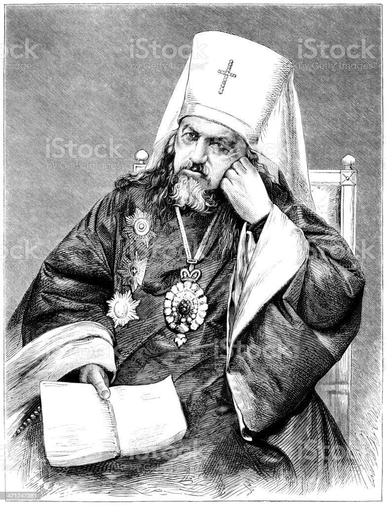The Metropolitan of St Petersburg (Victorian illustration) royalty-free stock vector art