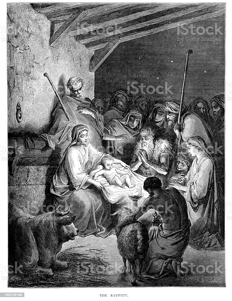 The Nativity vector art illustration