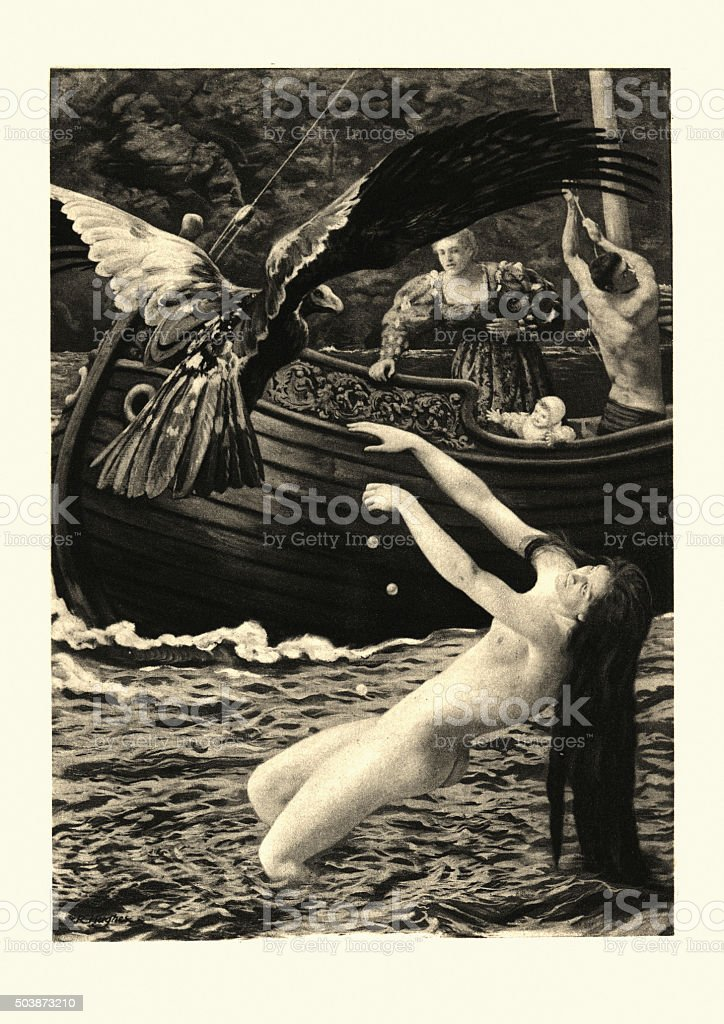 The Nights of Straparola - The Siren vector art illustration