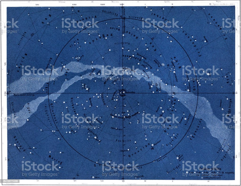 The northern sky vector art illustration