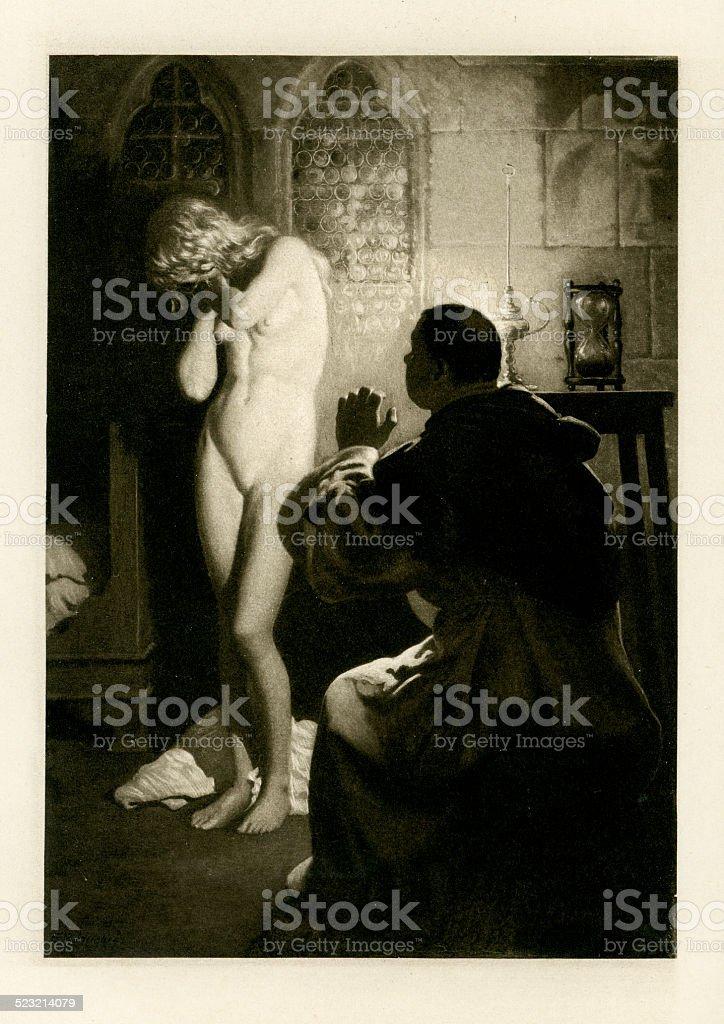 The Novellino of Masuccio - Madonna Barbara vector art illustration