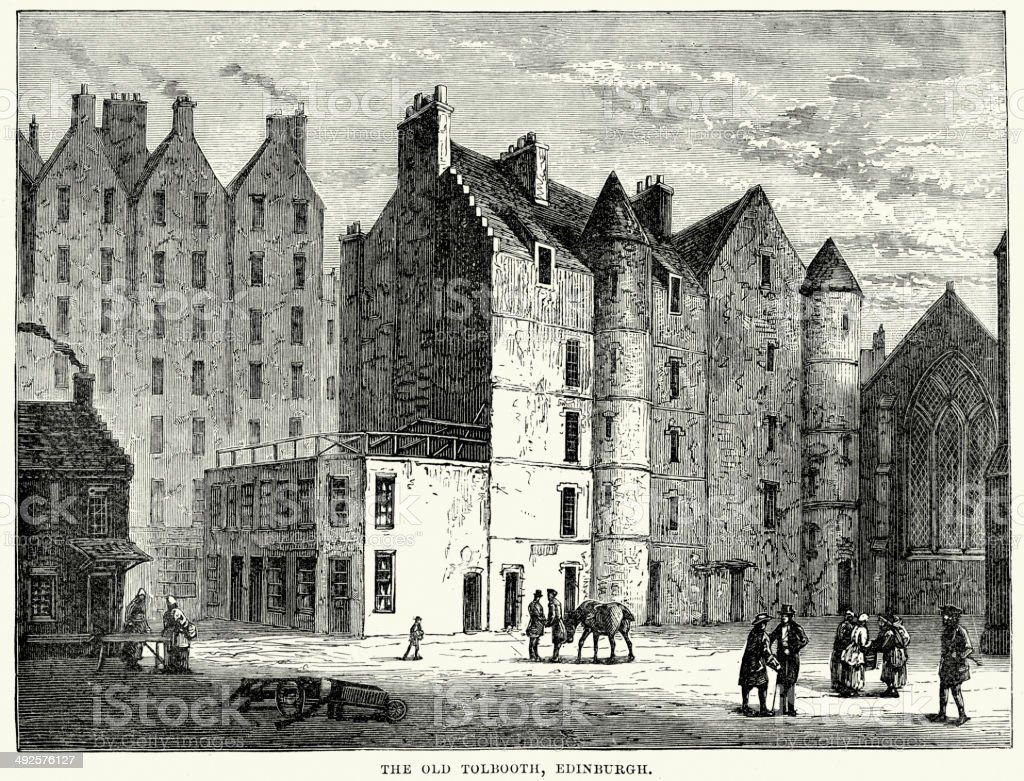 The Old Tolbooth, Edinburgh royalty-free stock vector art