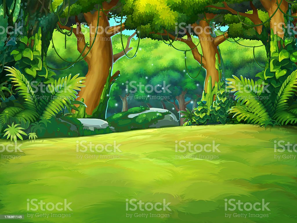 The original jungle vector art illustration