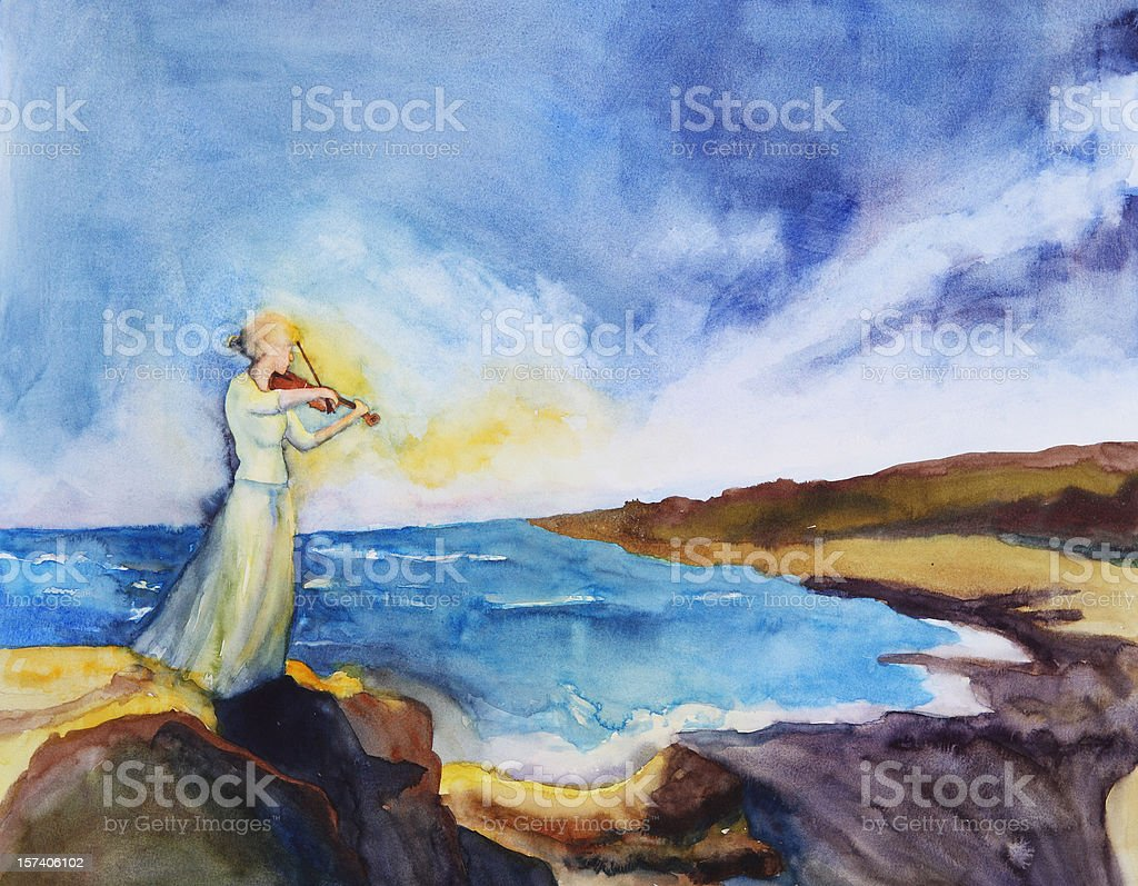 The Passion of a Song royalty-free stock vector art