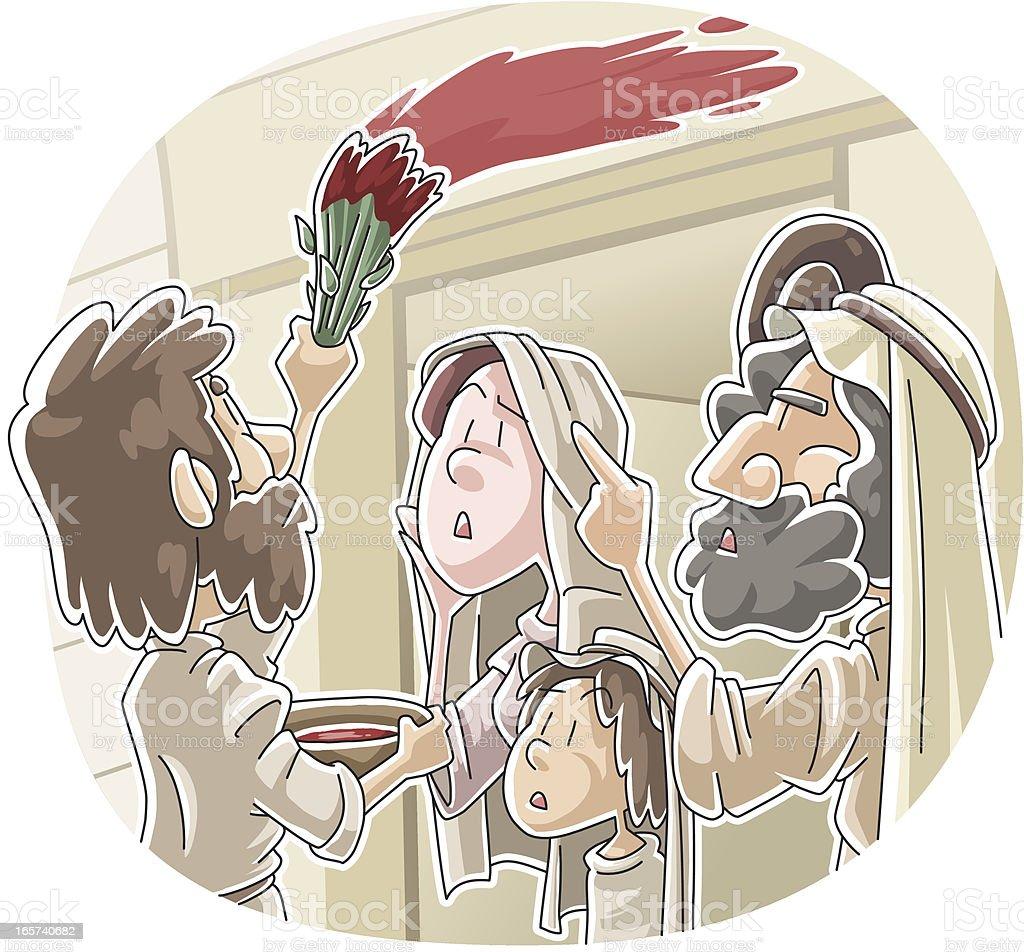 The Passover vector art illustration