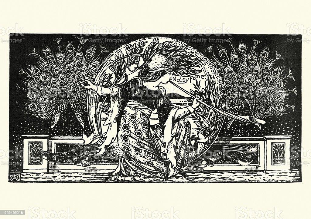 The Peacock Horn vector art illustration
