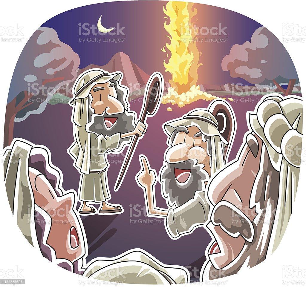The Pillar of Fire vector art illustration