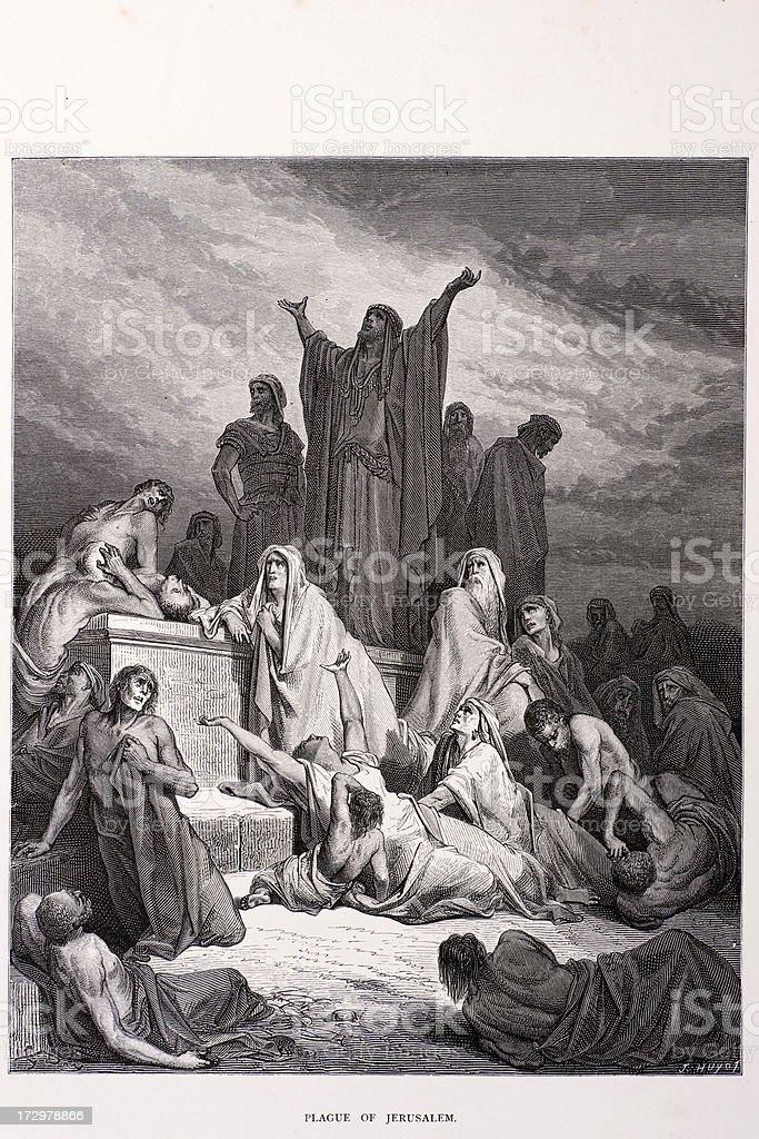 The plague of Jerusalem royalty-free stock vector art