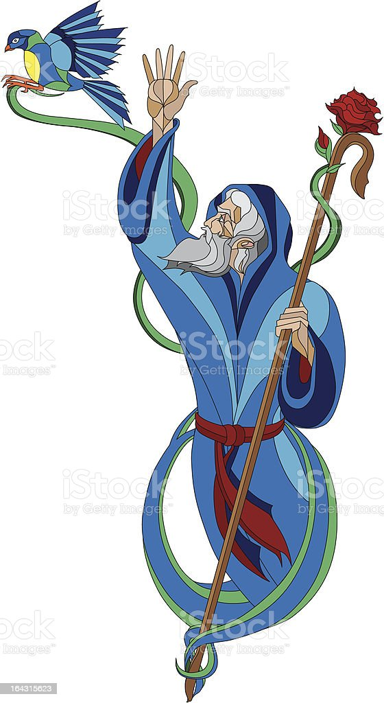 The Prophet Of Peace royalty-free stock vector art