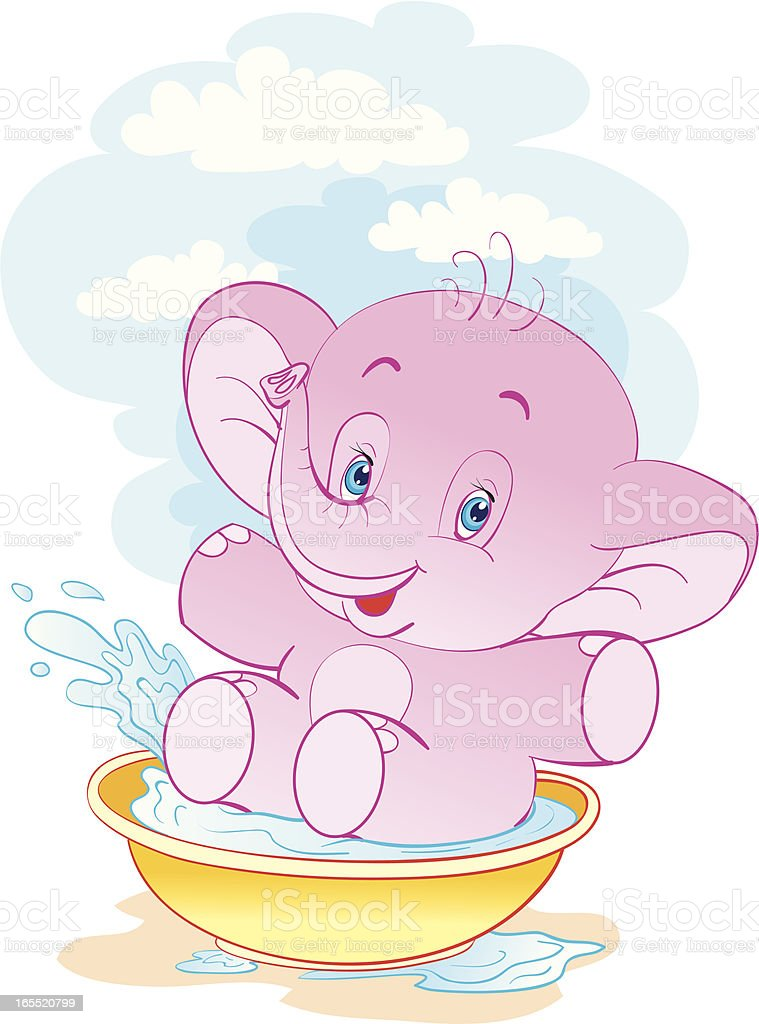 The pure elephant royalty-free stock vector art