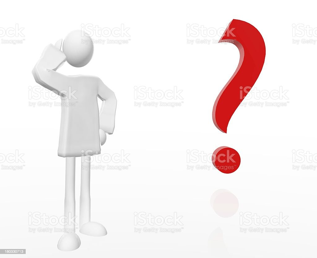 the question royalty-free stock vector art