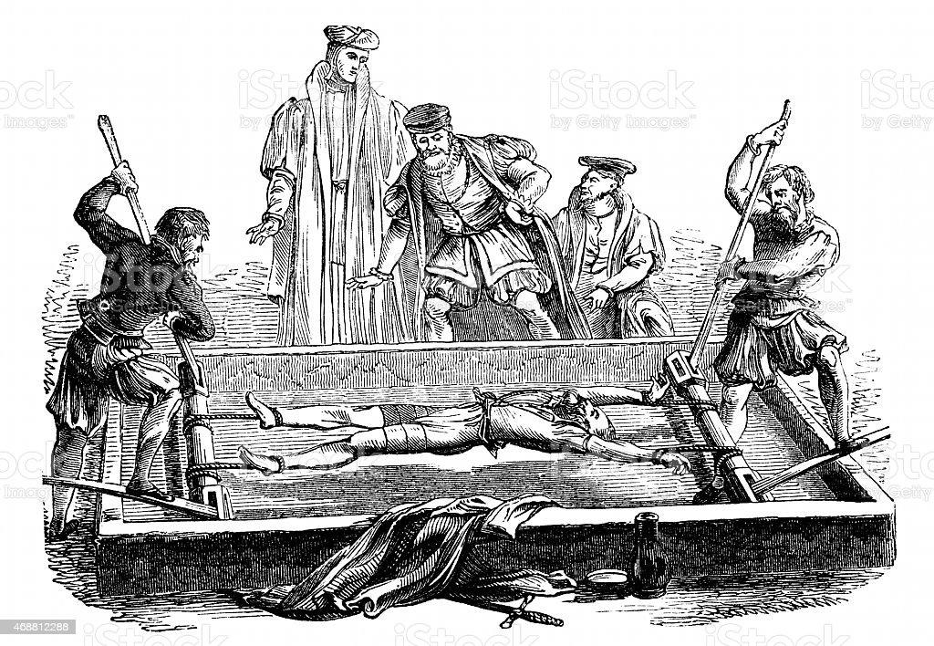 The Rack torture equipment vector art illustration