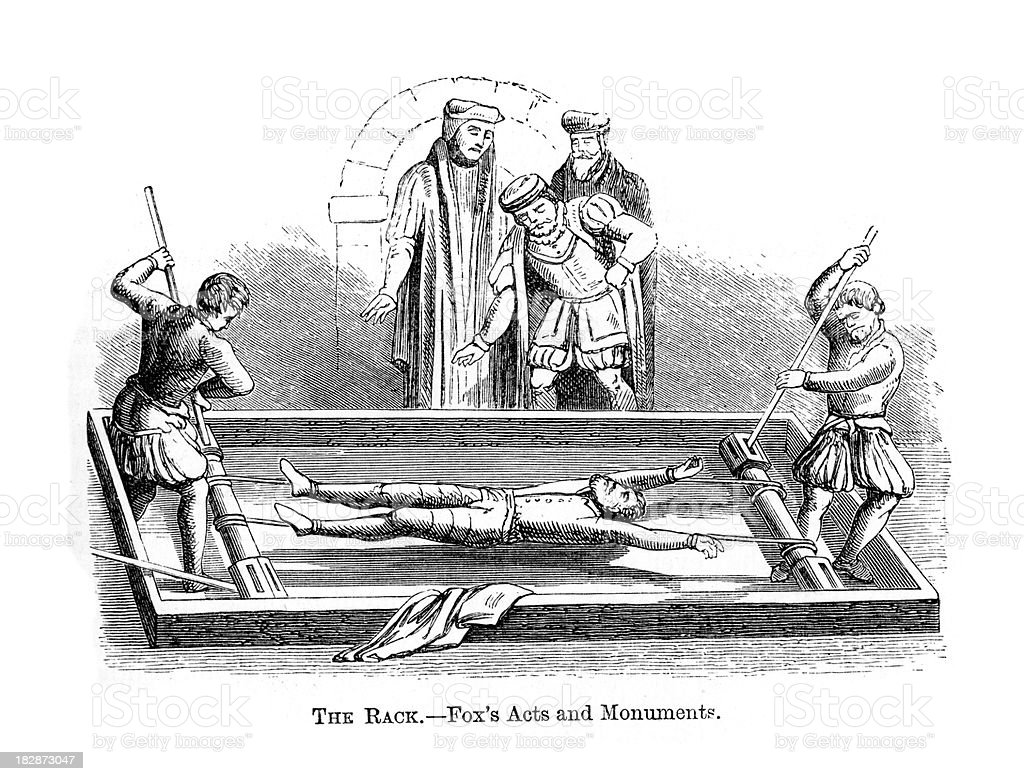The Rack - Torture vector art illustration