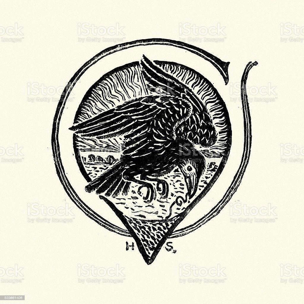 The Raven vector art illustration