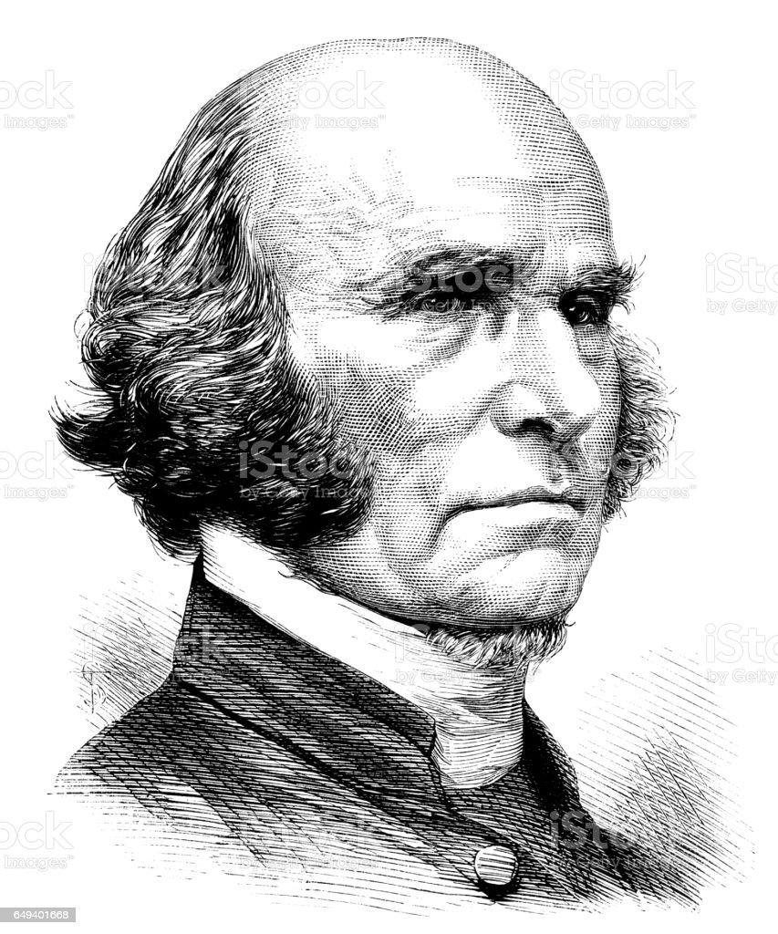 The Revd. John Gregg, Bishop of Cork vector art illustration