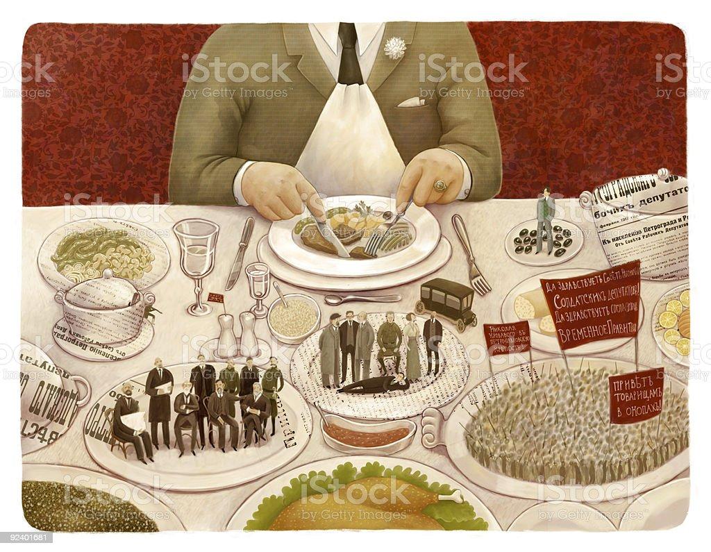 The revolutionary table vector art illustration